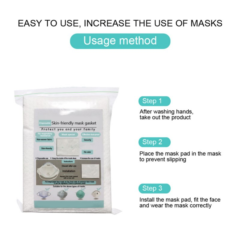 10/20/50pcs Air Mask Fiters Anti Dustproof Filter Disposable Mask Pad PM2.5 Masks Protective Breathable Replaceable Filter 3