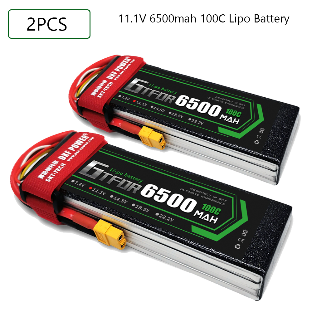 GTFDR 3S 11.1V 6500mah 100C-200C Lipo Battery 3S XT60 T Deans XT90 EC5 For FPV Drone Airplane Car Racing Truck Boat RC Parts image