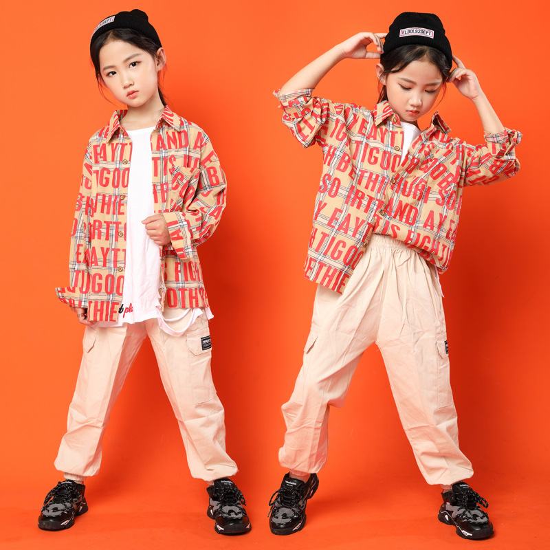Hip Hop Costumes For Girls Boys Jazz Ballroom Dance Clothes Kids Party Stage Outfits Hiphop Competition Dance Costumes Suits LJ
