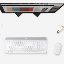 Logitech MK470 Wireless Mouse Keyboard 2.4GHz 1000DPI Silent Office Simplicity Fashion Frivolous USB Nano Optical Combos