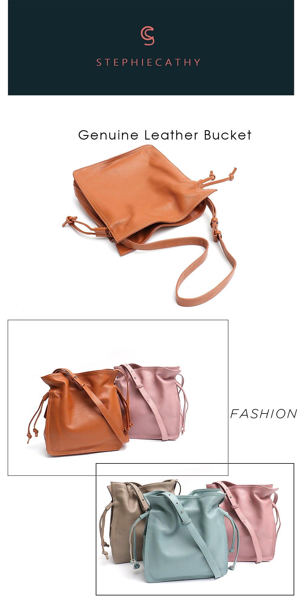 Sc moda balde de couro bolsa para