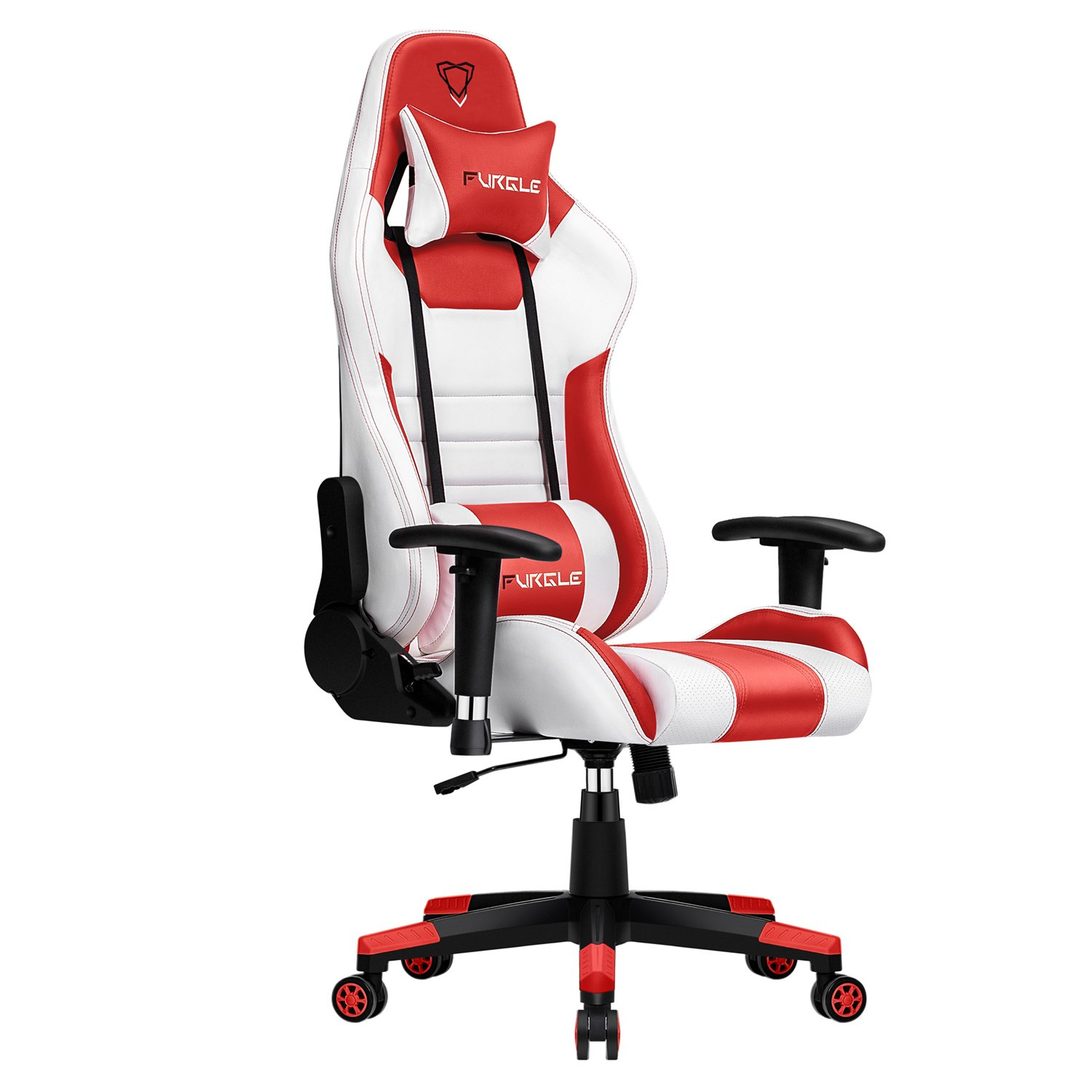 Gaming Chair Racing Style High-Back Office Chair W/3D Adjustable Armrests PU Leather Executive Ergonomic Swivel Game Chairs