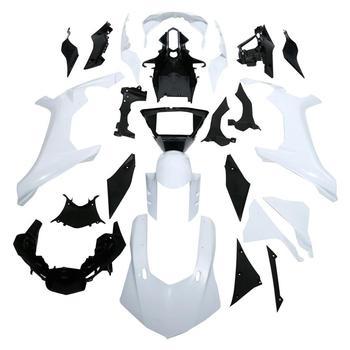 ZXMT Motorcycle Full Fairing Set Kit injection Bodywork Panel Plastics For YZF R1 2015 2016 2017 15 16 17 unpainted White