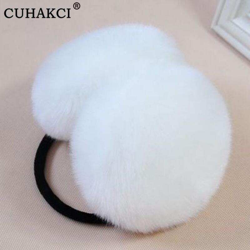 CUHAKCI Winter Earmuff Fur Earmuff Thick Fur Ear Warmer Fluffy Fur Headphone For Children And Adult Solid Color Cute Ear Warmer