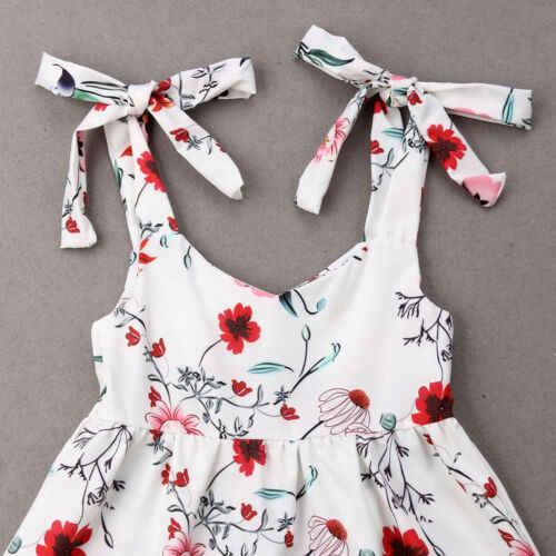 Sommer Mutter und Tochter Passenden Mädchen Floral Outfit Kleidung Kleider