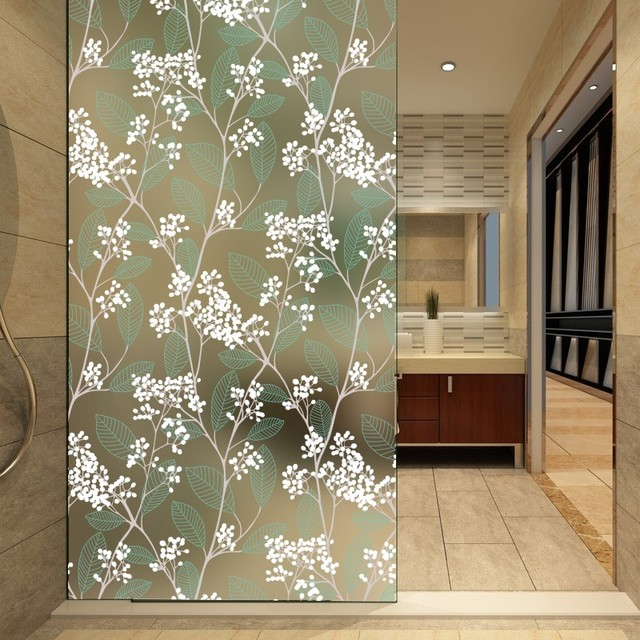 Matte Window Film Stained Glass Decorative Uv Window Sticker Privacy  Frosted Self Adhesive Film Window Decal for Glass 1