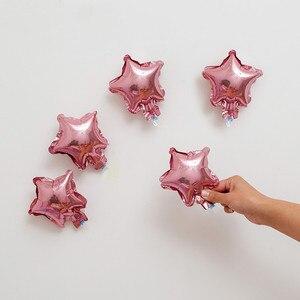 Image 1 - סיטונאי 10 יח\חבילה 5 אינץ כוכב בלון ססגוני חמוד כוכב רדיד בלונים שמח יום הולדת קישוט חתונת ציוד