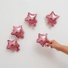 Hurtownie 10 sztuk/partia 5 cal gwiazda balon wielobarwne słodkie gwiazda balon foliowy na urodziny dekoracje wesele dostaw