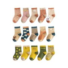 Combed Socks Clothes-Accessories Newborn Girls Boys Winter Cotton Children 5-Pairs/Lot
