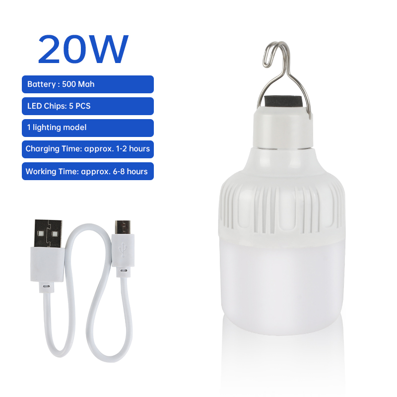 Outdoor Lamp USB Oplaadbare LED Noodverlichting Draagbare Tent Lamp Batterij Lantaarn BBQ Camping Licht Voor Patio/Veranda/ Tuin