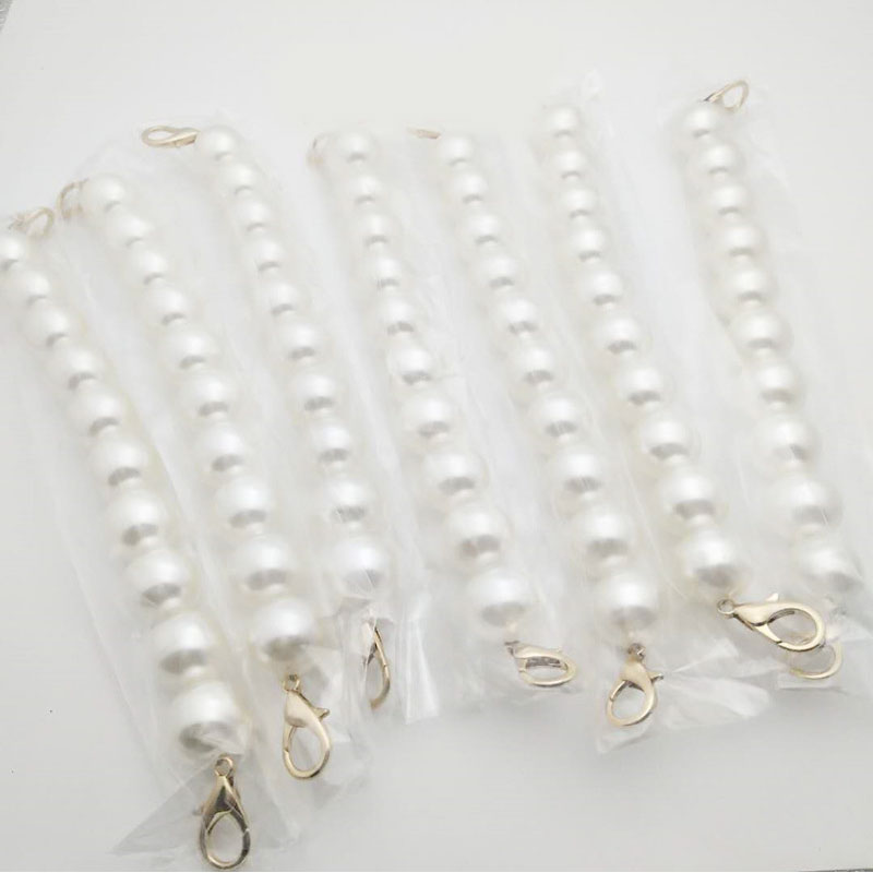 Pearl Beaded Short Bag Straps 25cm 36cm 37cm Short Shoulder Belt Purse Handle DIY Chain Bag Accessories
