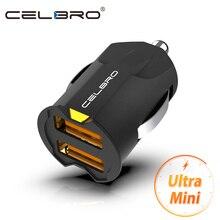 Najmniejsza ładowarka samochodowa Mini USB Adapter 2A ładowarka samochodowa USB telefon komórkowy podwójna ładowarka samochodowa USB Auto Charge 2 port dla iPhone Samsung