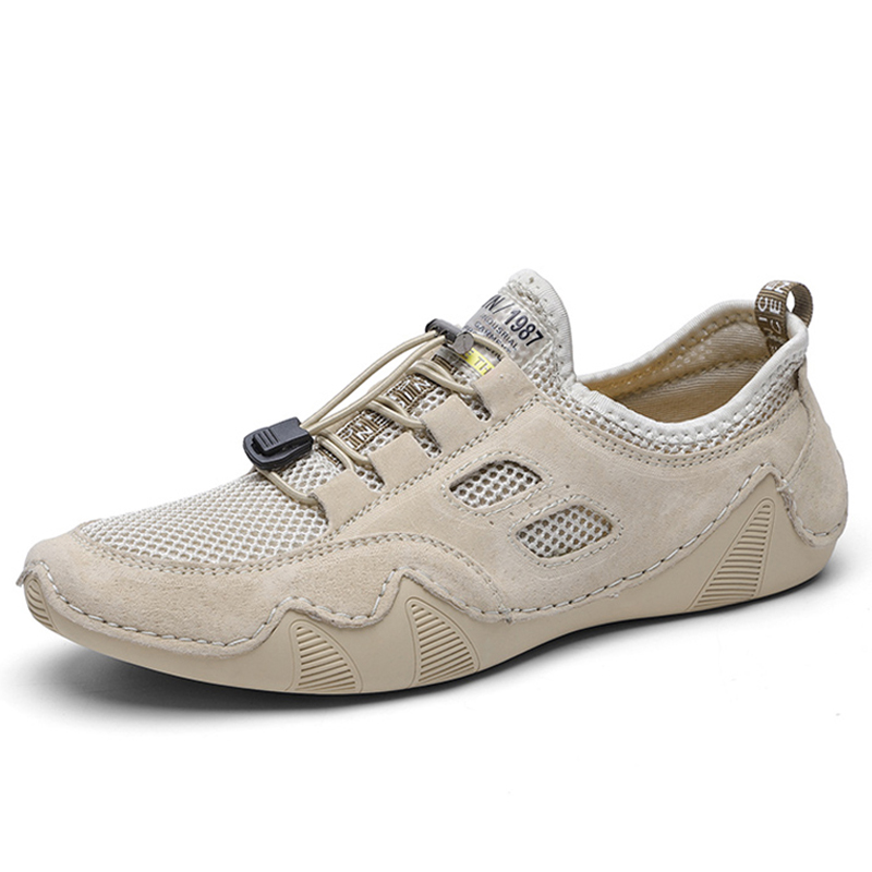 Breathable mesh <font><b>Men</b></font> loafers Genuine Leather <font><b>Men</b></font> Casual <font><b>Shoes</b></font> Comfortable Driving <font><b>men</b></font> <font><b>shoes</b></font> Large size 46 zapatos de hombre image