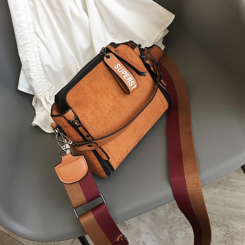 Vintage Bag Clutch Messenger-Bags Crossbody-Bag Handbag Female Shoulder Brown Women Ladies