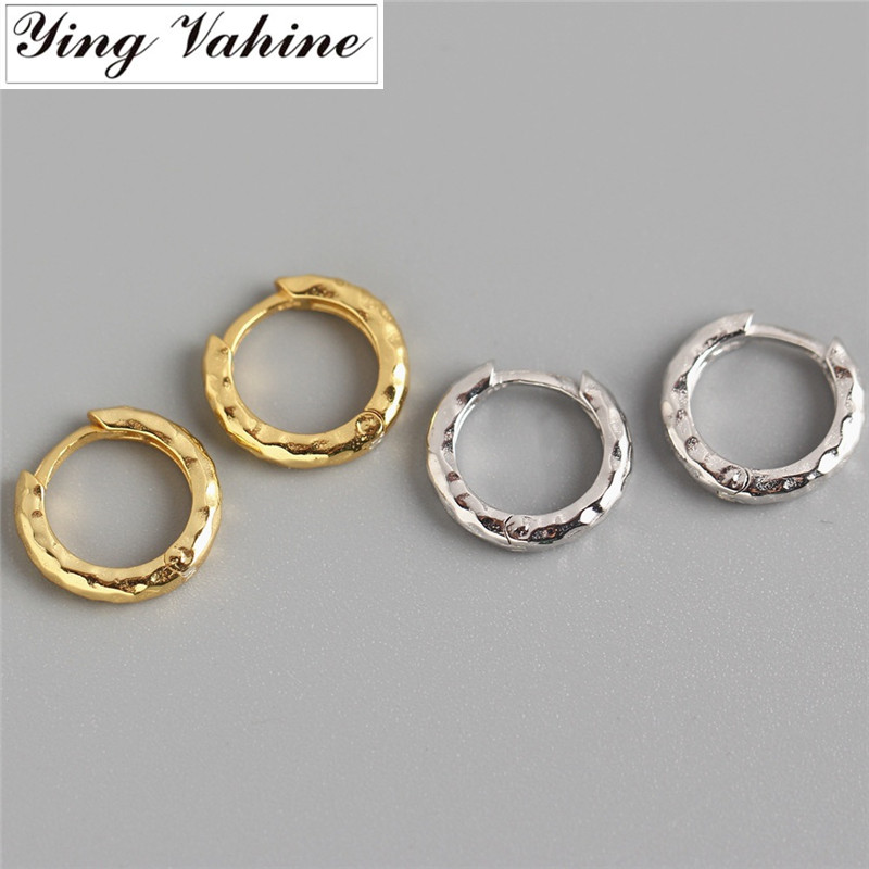 Ying Vahine 100% 925 Sterling Silver Baroque-style Round Stud Earrings For Women