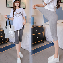 Summer Thin Modal Maternity Short Pants Belly Pencil Capris Legging Clothes for Pregnant Women Casual Pregnancy Bottoming Pants
