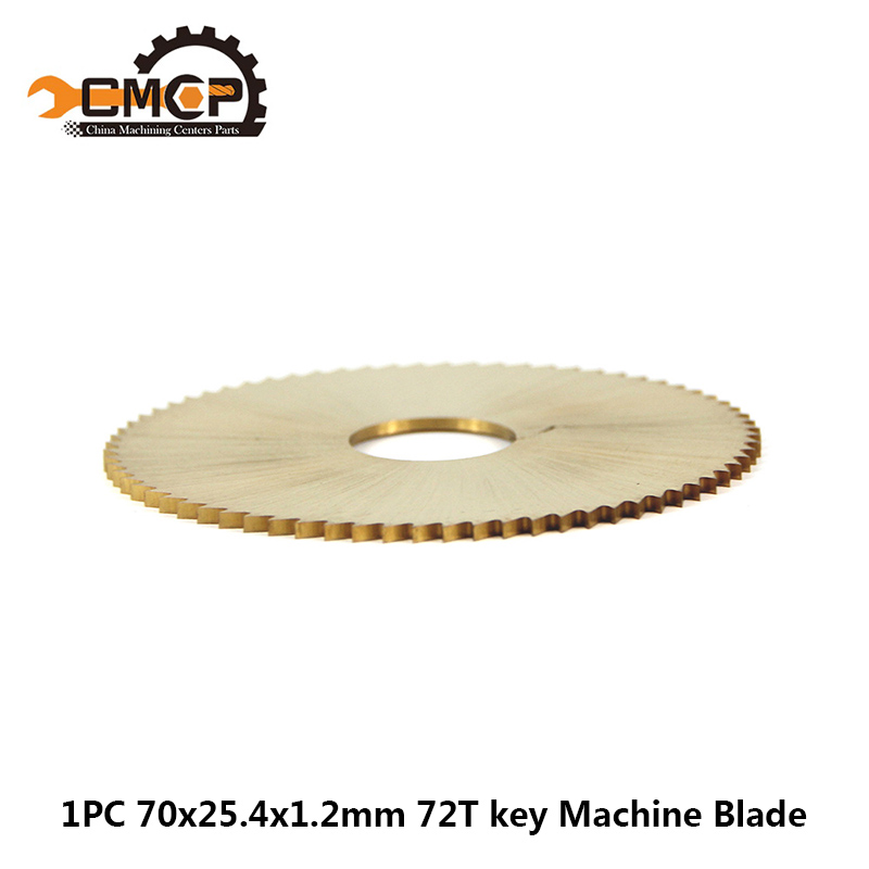 1PC 70x25.4x1.2mm 72T Key Machine Blade For Wenxing Key Cutting Machine Titanium Coated Key Cutter  Blade HSS Circular Saw Blade