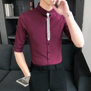 Image 1 - Блузка мужская приталенная с полурукавами, 3 цвета, 5 хl м