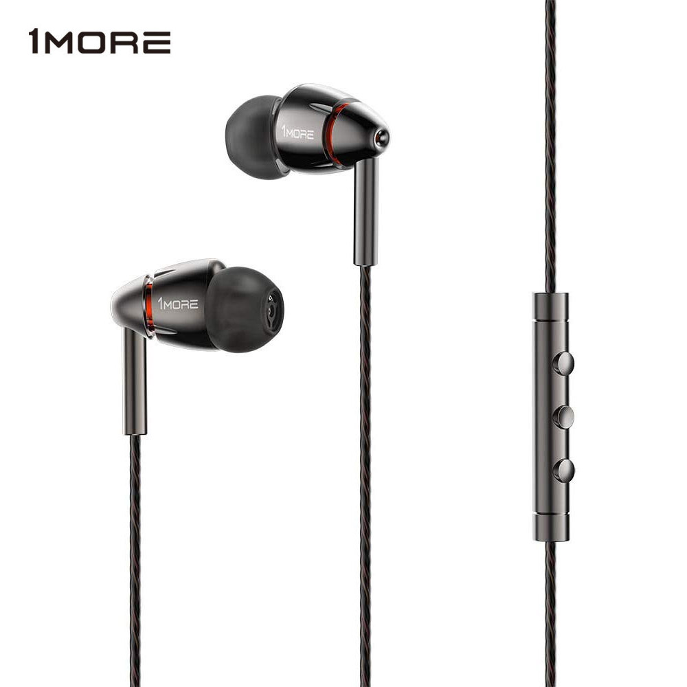 1MORE E1010 Quad Driver In-Ear Earphone with Mic 1 more quad HiFI Hi-Res Earbuds Earphones Headset for Apple Android Xiaomi