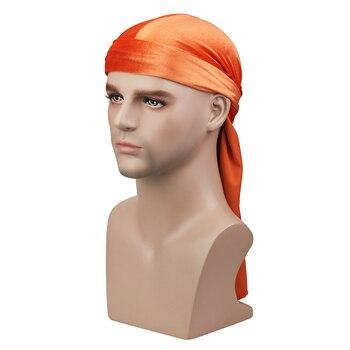 Velvet Long Tail Durag Men Turban Women Chemo Cap Breathable Bandana Hat Unisex Headwarp Elastic Indian Bonnet High Quality 4