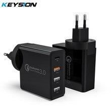 Chargeur rapide KEYSION 4 Ports 48W chargeur USB PD Type C pour Samsung iPhone 12 tablette QC 3.0 chargeur mural rapide adaptateur prise ue américaine