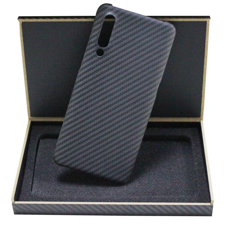 Étui de téléphone portable ultra-mince en fibre de carbone pur pour xiaomi 8 explorer 9 Mix 3 couverture de téléphone d'affaires dur
