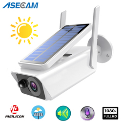 1080P Full HD Wide View Surveillance camera Solar panel Rechargeable Battery Outdoor Indoor Security WiFi IP Camera