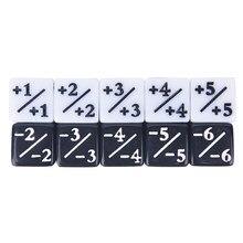 10 peças contadores de dados 5 positivo + 1/+ 1 & 5 negativo-1/-1 para magia o jogo de mesa de reunião engraçado dic atacado