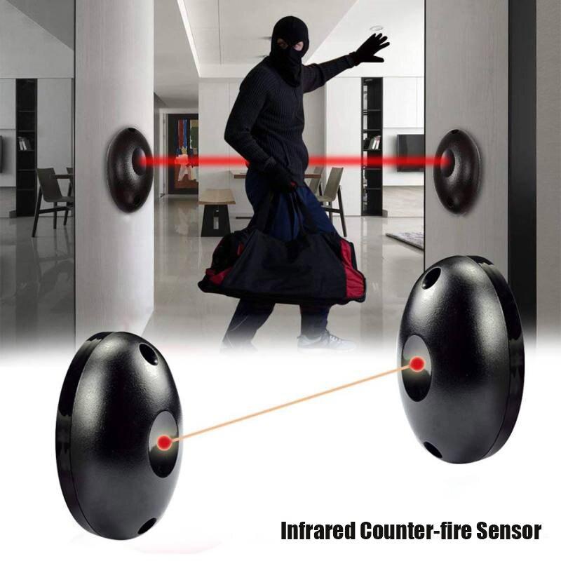Single Beam Infrared Radiation Alarm Sensor Set Automatic Light Security Door Detector PAK55