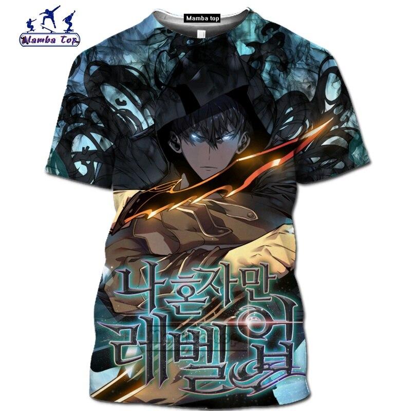 Mamba top Hot Comic Solo Leveling shirt homme fashion funny men T-Shirts 3D Anime Harajuku Jin-woo tee Short sleeve Streetwear (3)