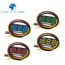 Voltímetro digital de CC de tres líneas de precisión TZT, cabeza LED, DC4.5V-30V voltímetro digital, Mini voltímetro Digital de 0,28 pulgadas, 0-100V