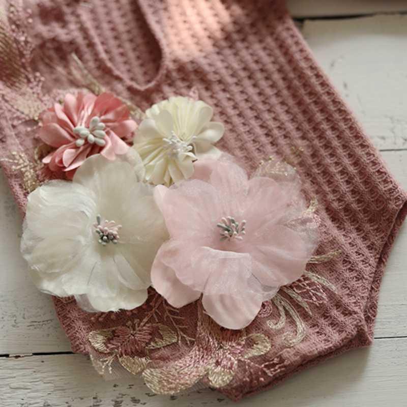 Recém-nascidos Fotografia Photo Studio Acessórios Vestidos para a Foto Do Bebê Adereços Atirar Produto Roupas Outfit Floral Da Menina do Natal