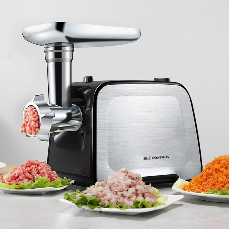 Electric meat grinder household small stainless steel  stirring minced meat filling machine fully automatic commercial enema 1