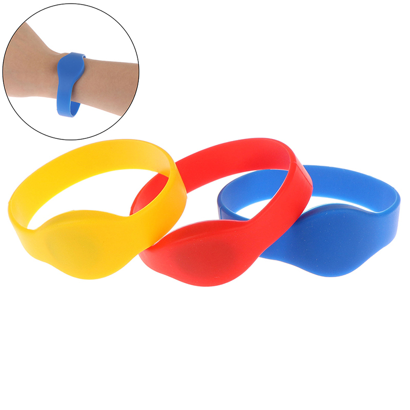 1pc 125khz EM4100 TK4100 Wristband RFID Bracelet ID Card Silicone Band Read Only Access Control Card 3 Colors Supplies