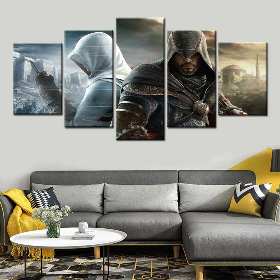 HD print canvas painting assassins creed poster wall art game Picture for living room children's bedroom Room Home decoration image