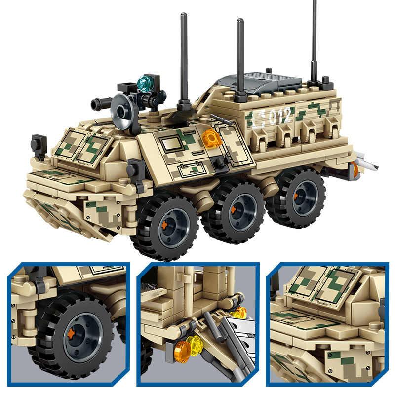 SEMBO ทหารรถถังยานเกราะชุดบล็อกอาคาร Technic WW2 เฮลิคอปเตอร์ City รถบรรทุกทหารอิฐของเล่นสำหรับชาย