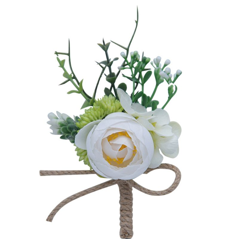 1Pc Women Men Wedding Artificial Flower Brooch Bouquet Corsage Decoration Prom Boutonniere With Pin