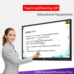 75 86 100 inch TV functie Educatief vergadering onderwijs boord TouchScreen Interactieve smart whiteboard met pc ingebouwde