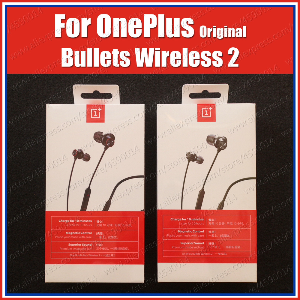 1+ E302A Original Oneplus Bullets Wireless 2 bluetooth headset Warp Charge Earphones For Oneplus 7T Pro Oneplus 7 Pro 6T 6 5T