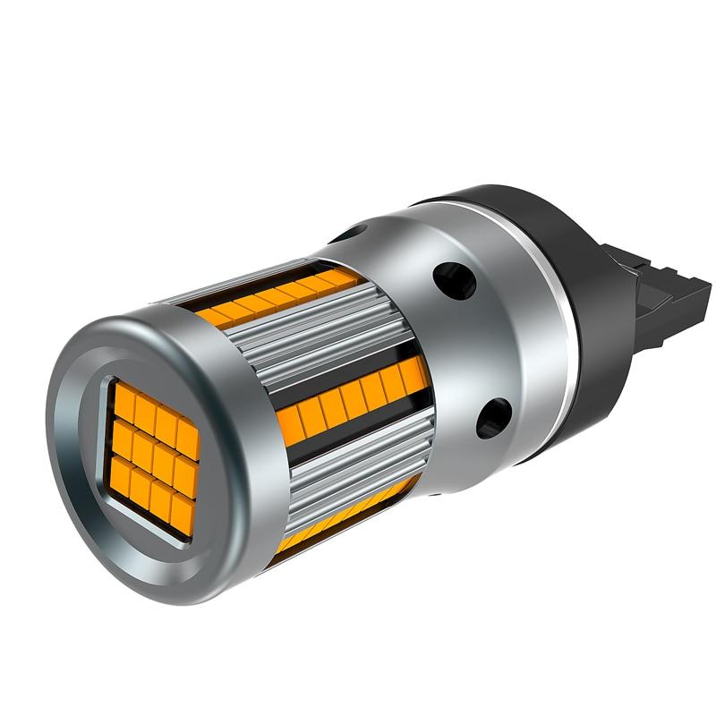 Image 3 - 2Pcs No Error Hyper Flash Turn Signal Lamp T20 7440 W21W LED Bulb 1156 BA15S P21W Canbus Car Lights Amber Yellow 12VSignal Lamp   -