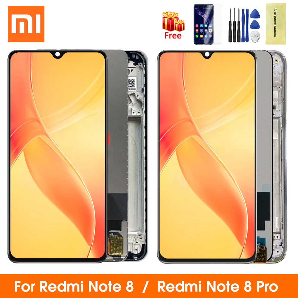 Tela original de lcd para xiaomi redmi note 8 pro, display com touch screen de reposição para redmi note 8 lcd lcd