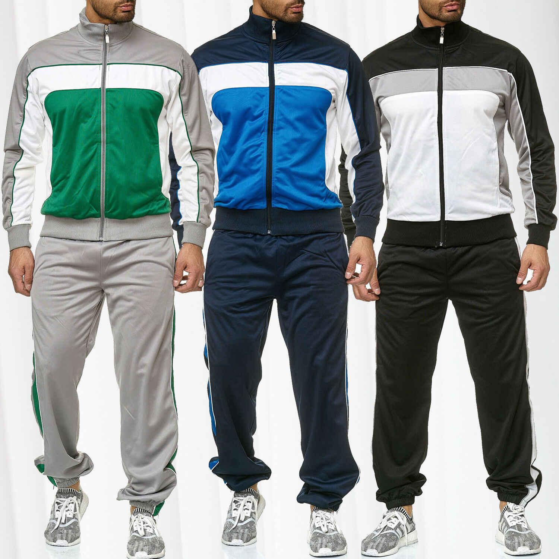 ZOGAA Men's Tracksuit Hoodies + กางเกงขายาว 2 ชิ้นชุดกีฬาขนาดใหญ่แฟชั่นชุดกีฬาชุดลำลอง Patchwork ผู้ชาย Tracksuit