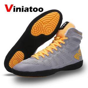Новая Качественная мужская обувь для борьбы, дышащая спортивная обувь, удобная обувь для бокса, мужские кроссовки белого и черного цвета