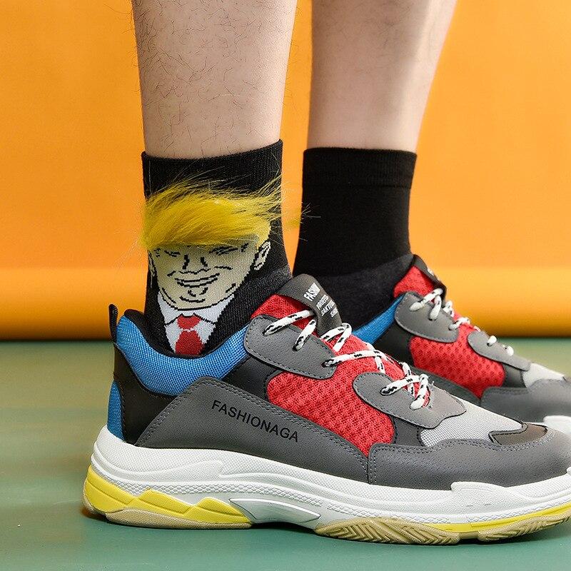 Socks For Women Man Hip Hop Skateboard Sock President Donald Trump Socks Unisex Fashion Funny Adult Casual Crew Socks