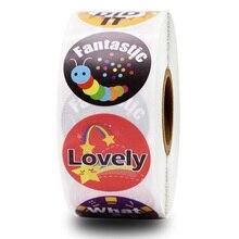 500pcs 8 design cartoon word scrapbook sticker teacher reward children inspirational stickers classroom toys decoration