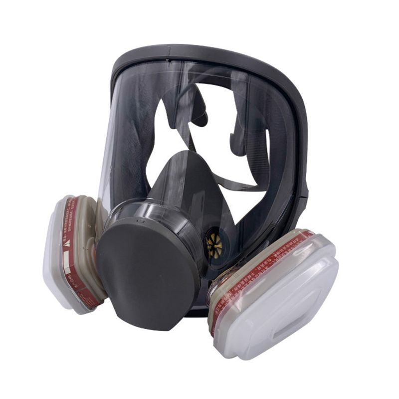 Full Facemask Respirator Facepiece Gas Mask for Spray Painting Benzene Prevention