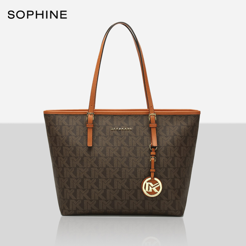 Classic fashion brand style casual tote women bags high quality PVC cowhide leather Monogram designer female bag