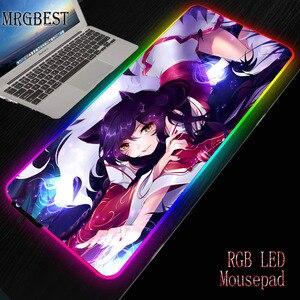 MRGBEST игра геймер резиновый компьютер большой RGB коврик для мыши Коврик для клавиатуры ноутбука Лига Легенд сексуальная девушка для Lol Csgo