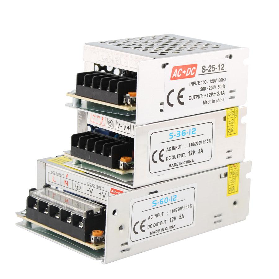 12 V Power Supply 1A 2A 3A 5A 8.5A 10A 15A 20A DC 12V Volt Power Supply Adapter LED Driver 220V To 12V Transformers Led Lamp