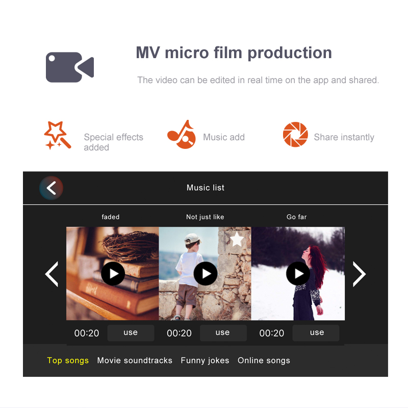 included drone film production in app design